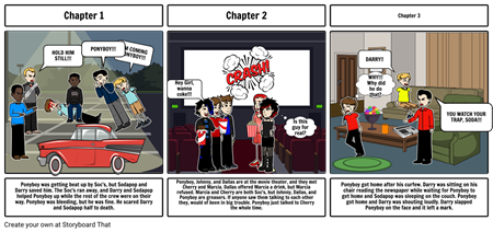 Story Board for Reading Period 3 The Outsiders.