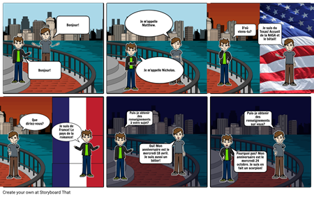 French Storyboard Project