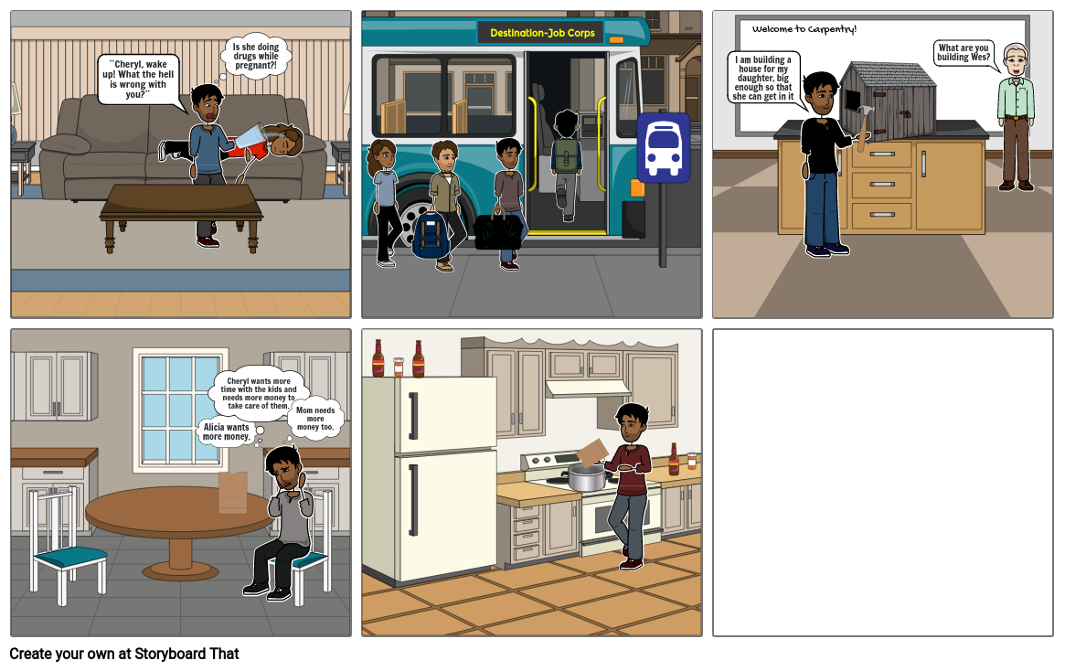 The Other Wes Moore Storyboard- Chapter 7