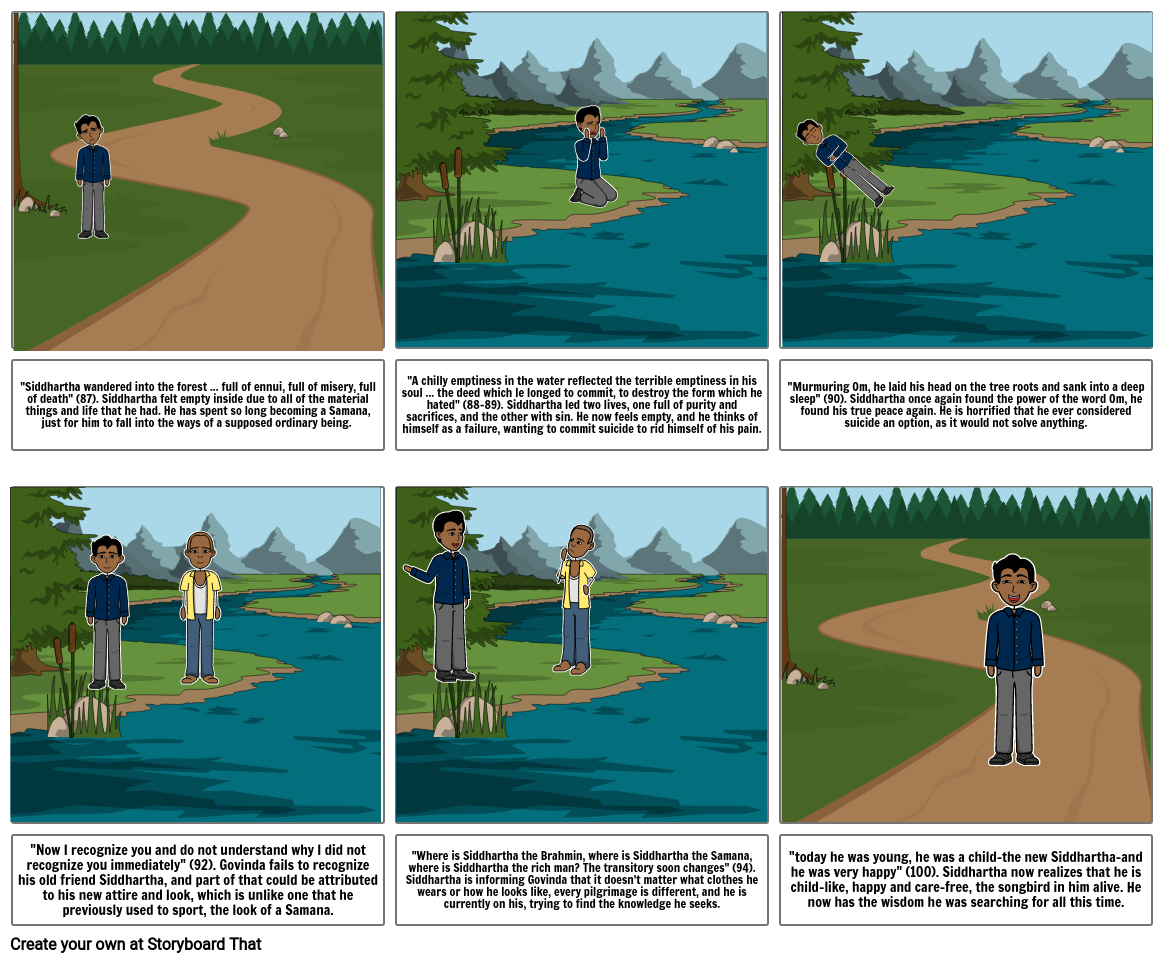 Siddhartha Chapter 8 comic strip