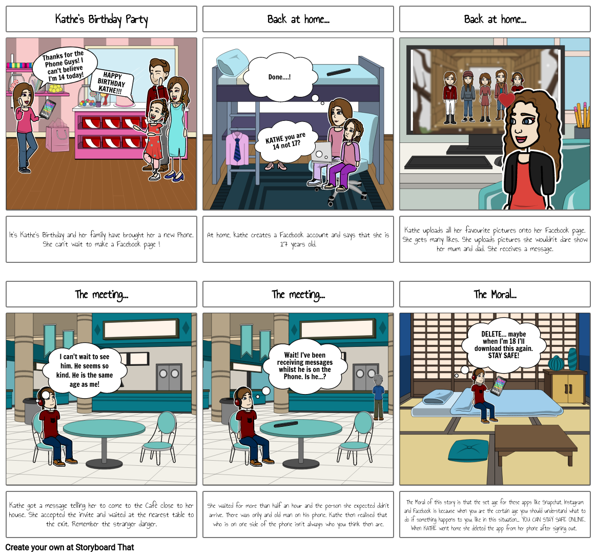 my storyboard : online safety