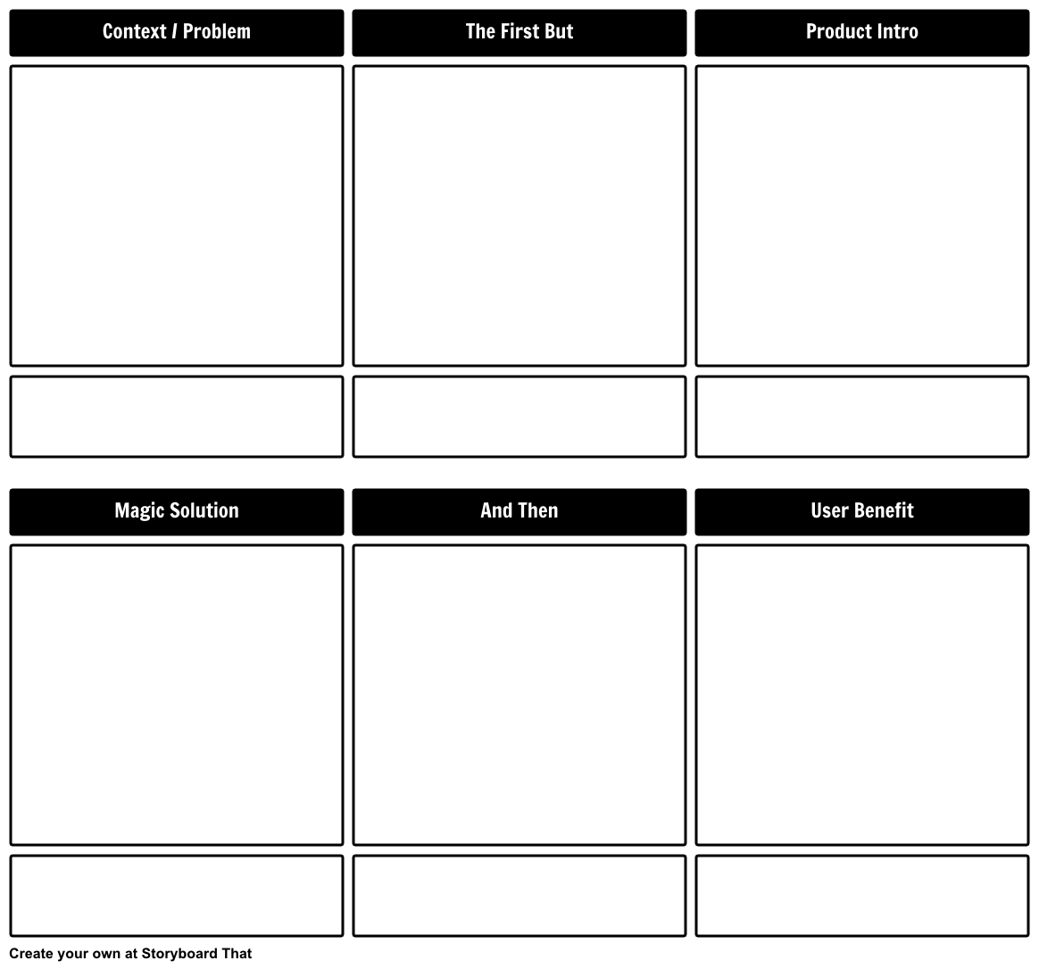 Product Solution Benefit Template Storyboard By Aaron