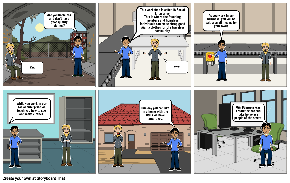 Entreprenuership JA Social Enterprise StoryBoard