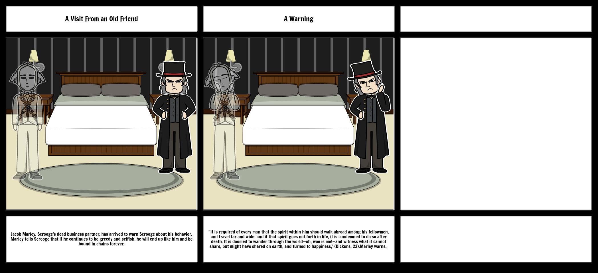 A Christmas Carol Example Storyboard