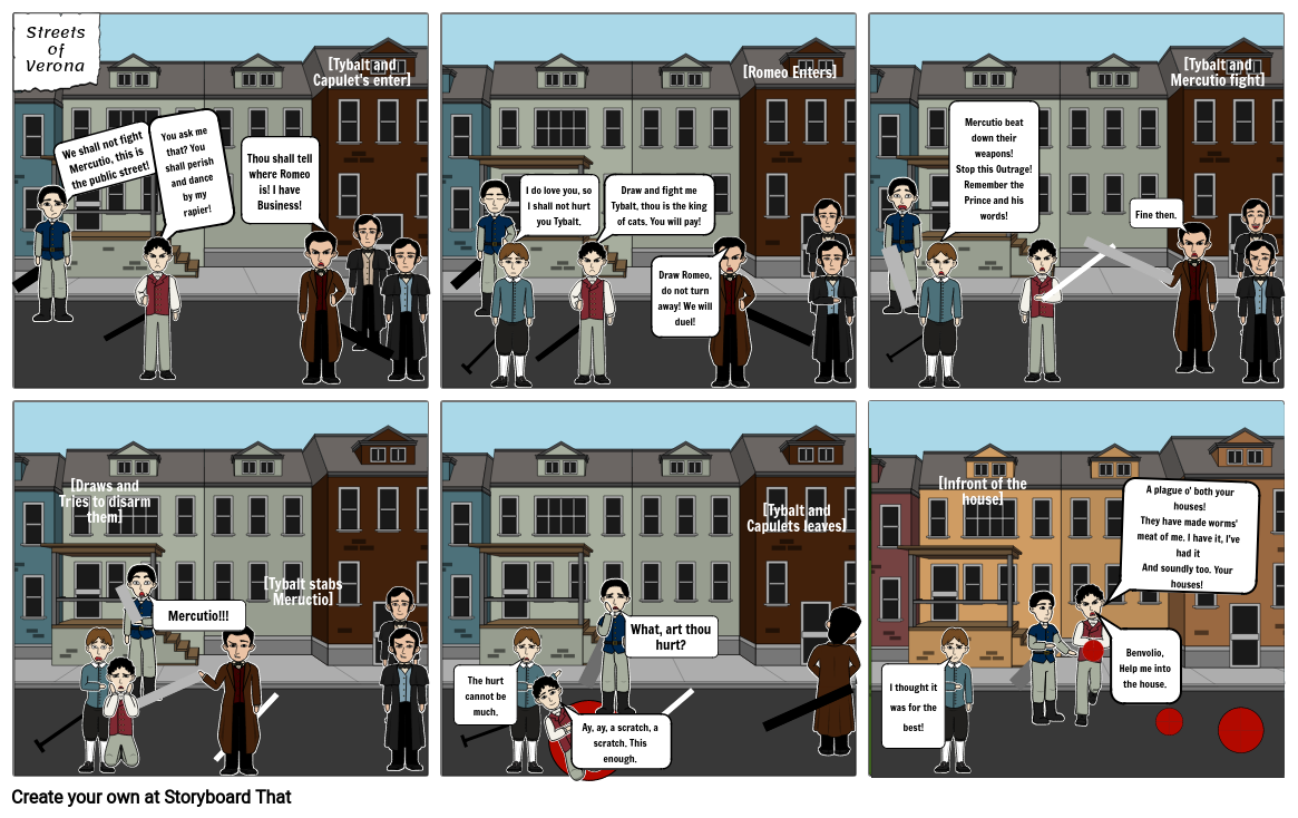 Romeo and Juliet, Creative project part 3, Choice 5 - Comic strip