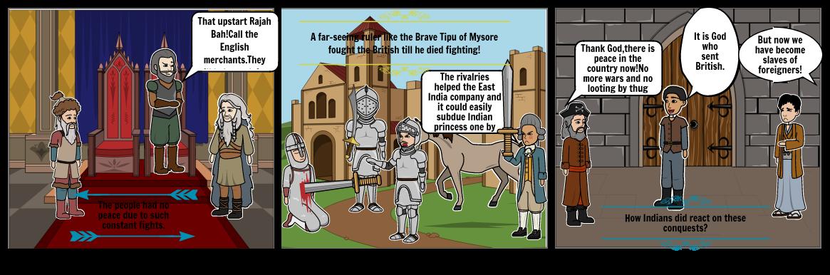 The fight of Mysore