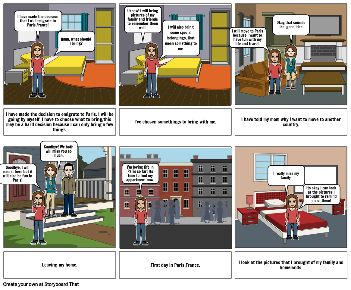 Immagration storyboard
