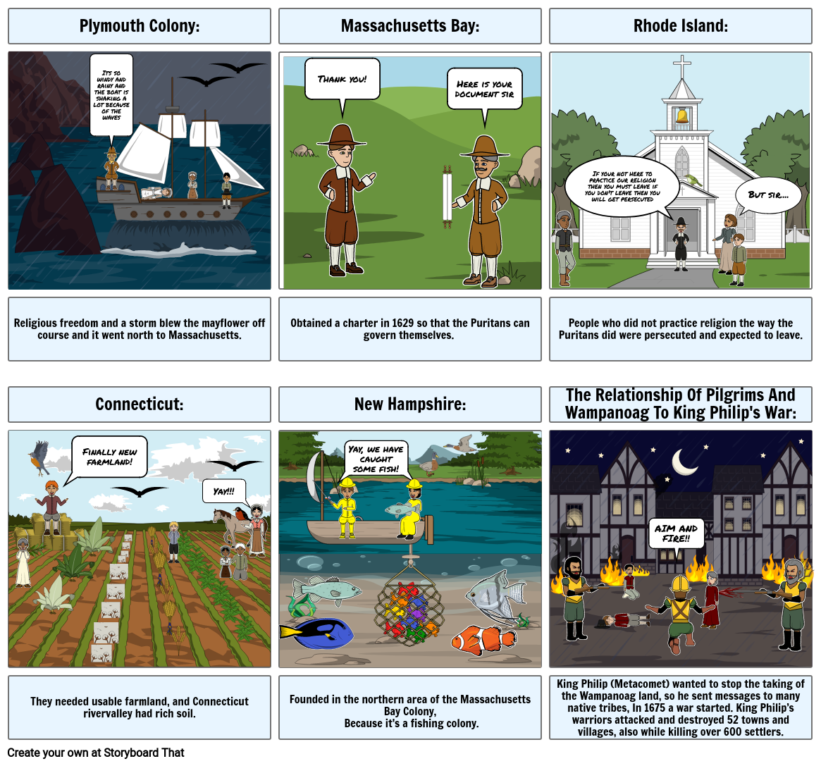 Social Studies story board project