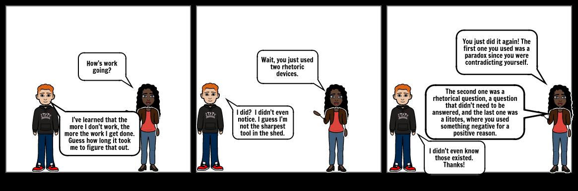 The Rhetorical comic