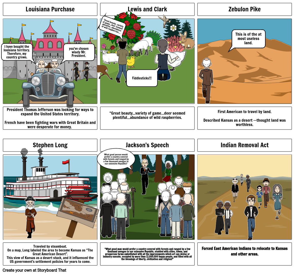 Indian Removal Act Storyboard