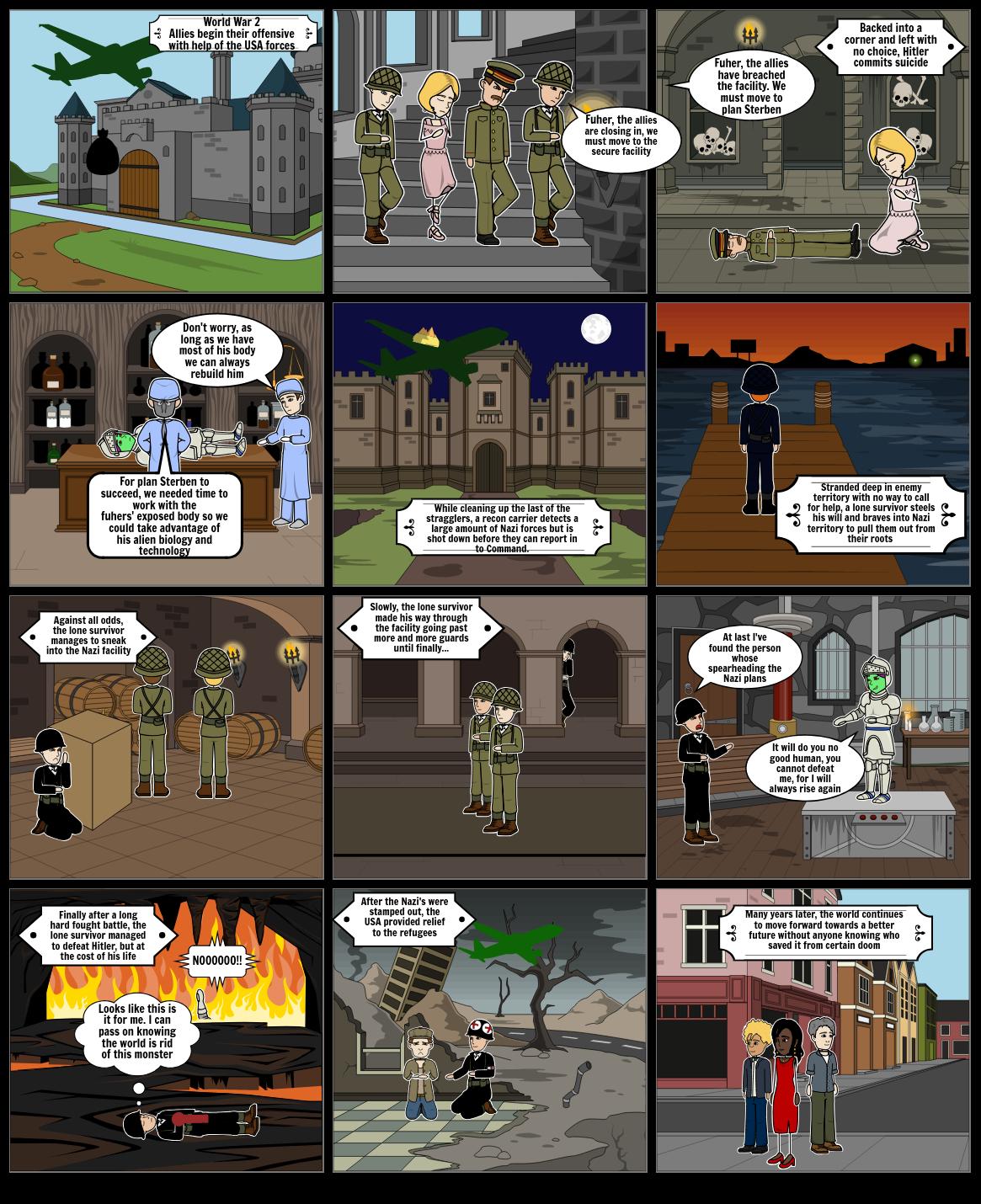 English 11 ww2 comic