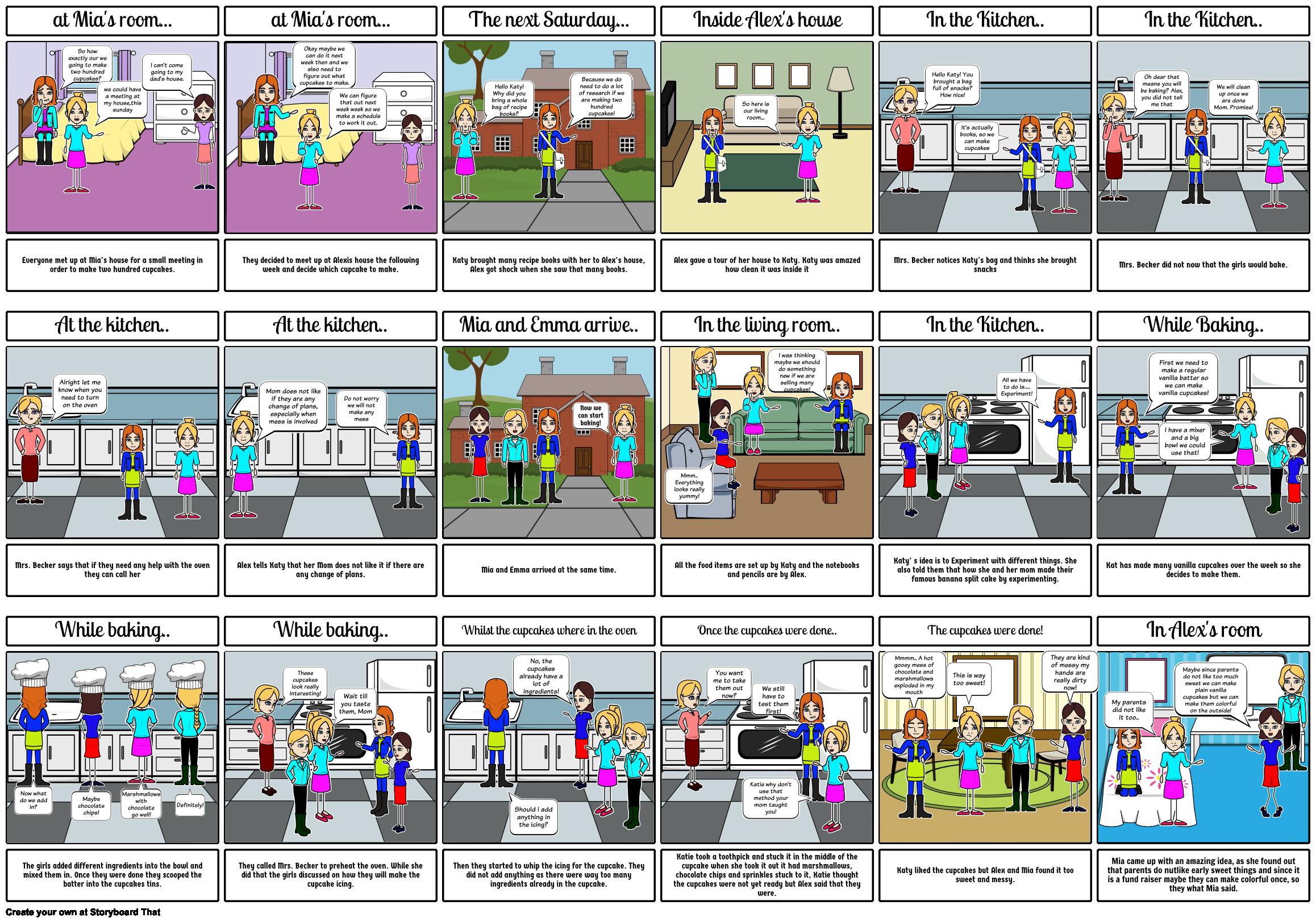 The Cupcake Diaries Mixed Up Storyboard By Aditi03