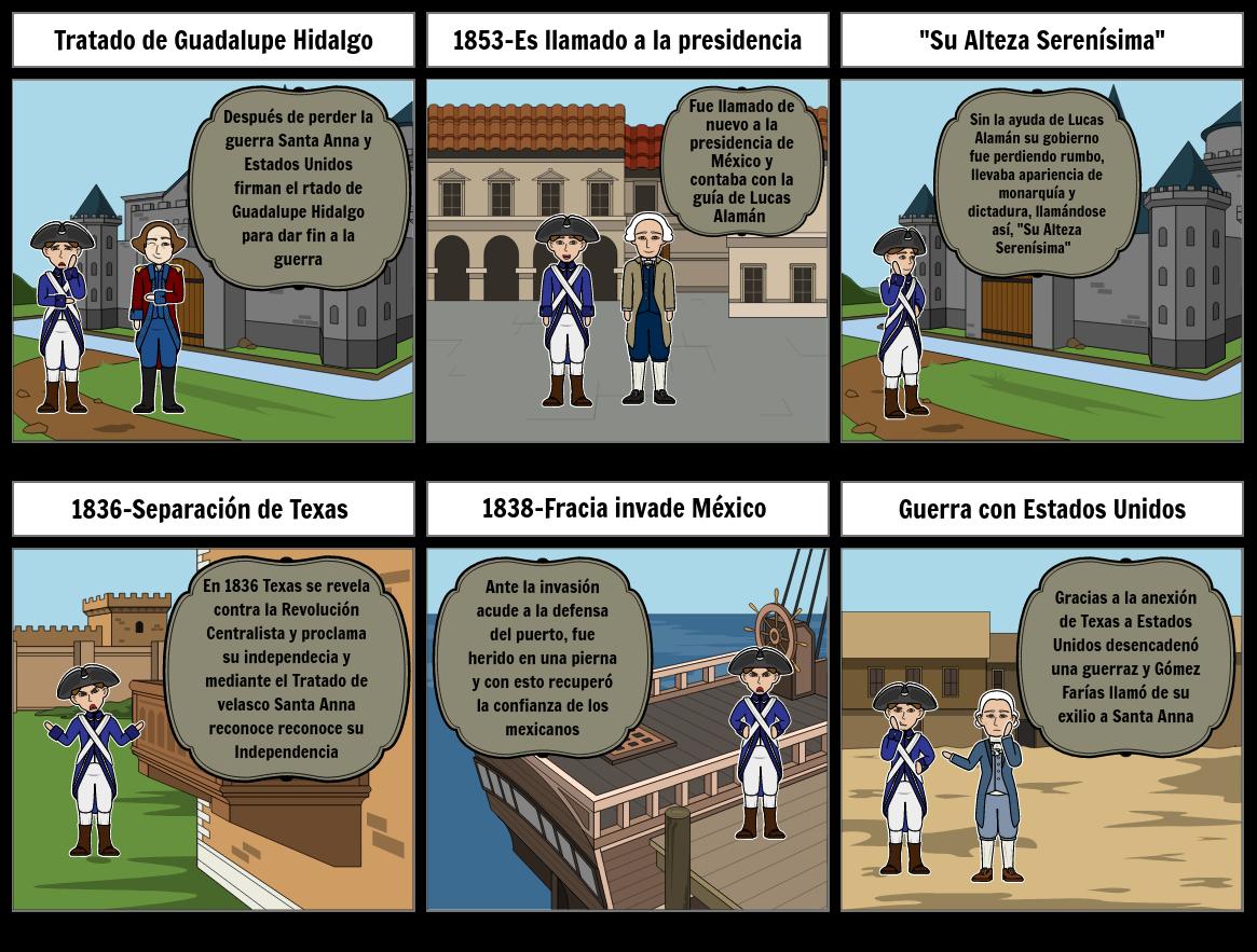 Biografia de Santa Anna