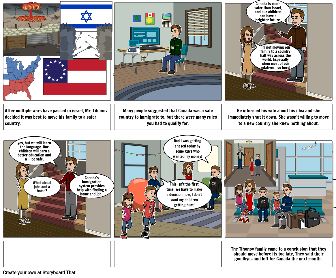The story of an immigrating Israeli family in 2012
