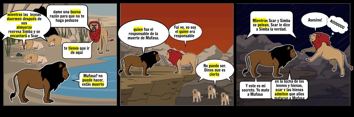 Lion King Spanish Homework