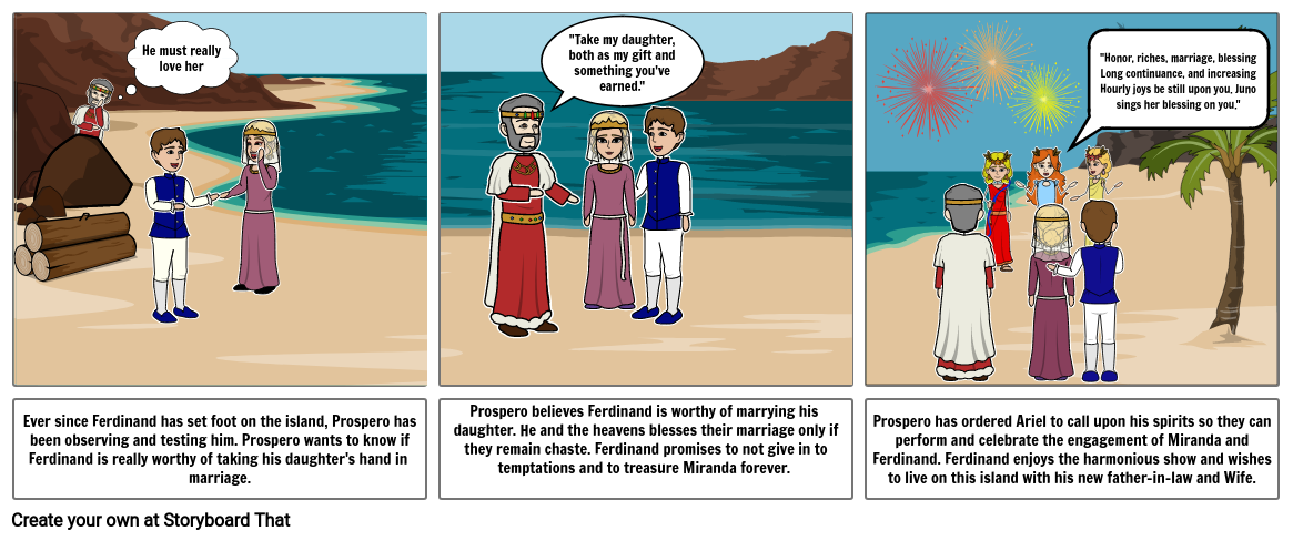 Act 4, Scene 1 of Tempest End-of-Year Project