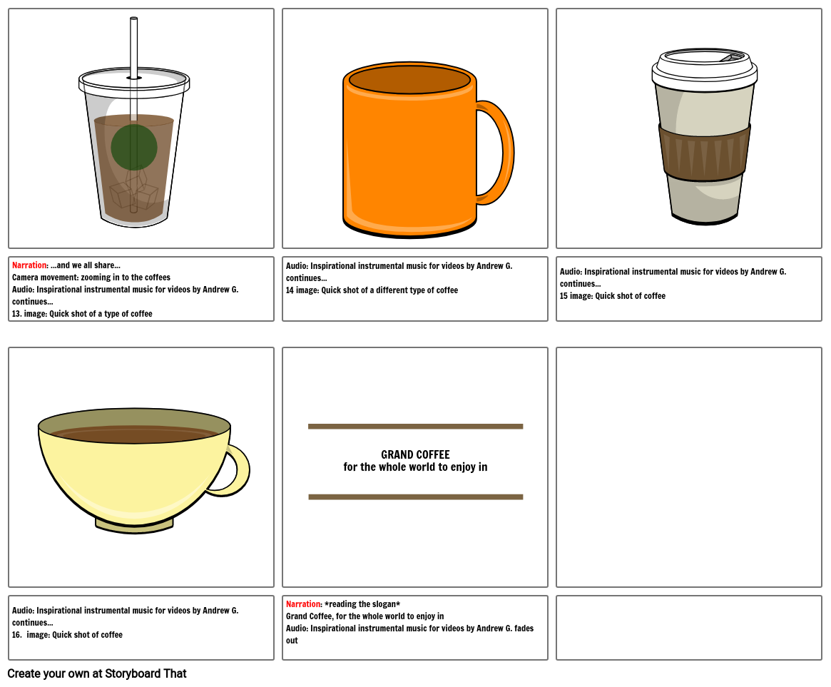 Coffee commercial