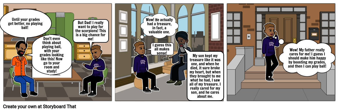 Storyboard for The Treasure of Lemon Brown
