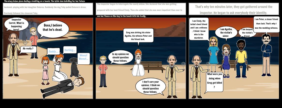 Storyboard anglais  08/05/2020