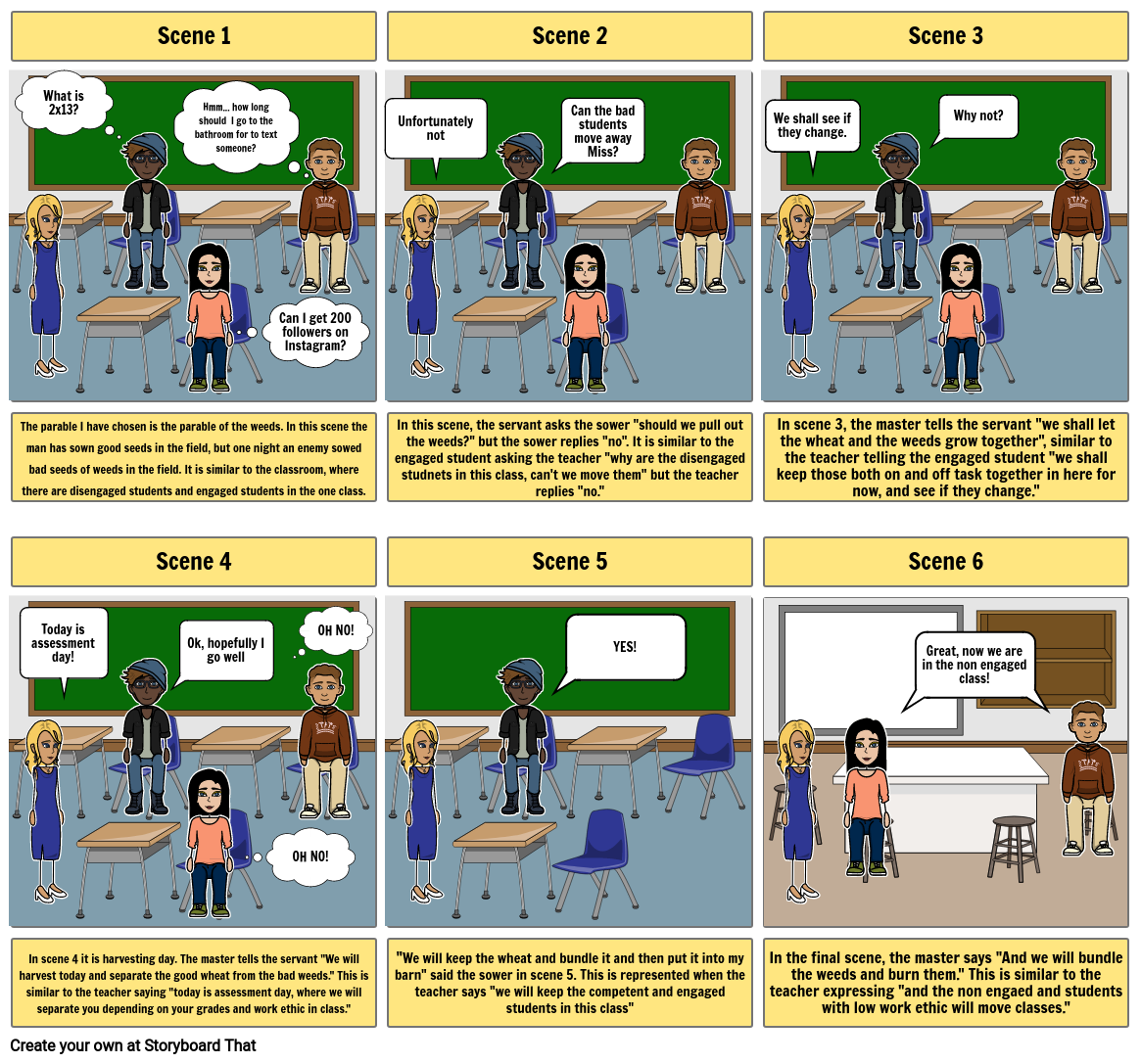 R.E Assessment Storyboard 1