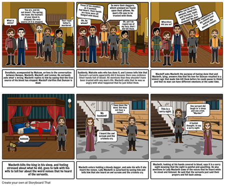Macbeth Act 2 Comic strip