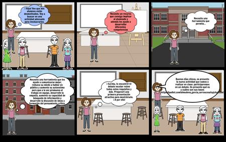 Storyboard sobre debate