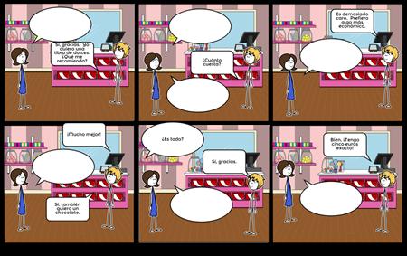 Diálogo en una Tienda
