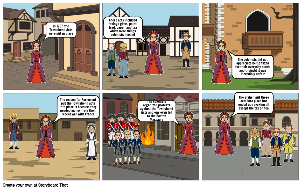 Townshend Acts Social Studies Project