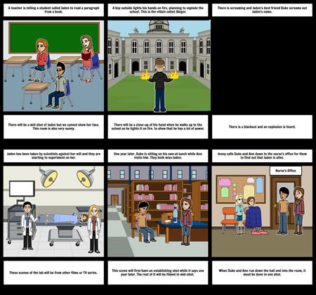 Pyschic Storyboard