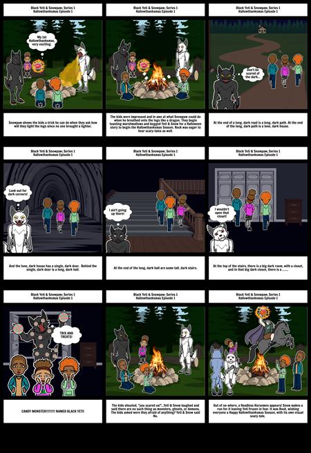 BLACK YETI & SNOWPAW Series 1; HALLOWTHANKSMAS EPISODE 1