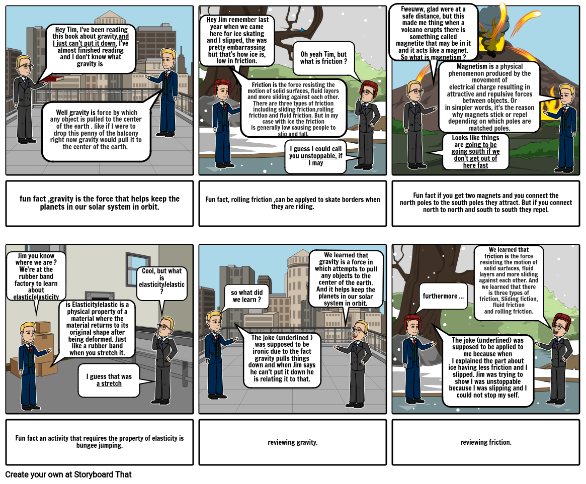 Science comic strip project