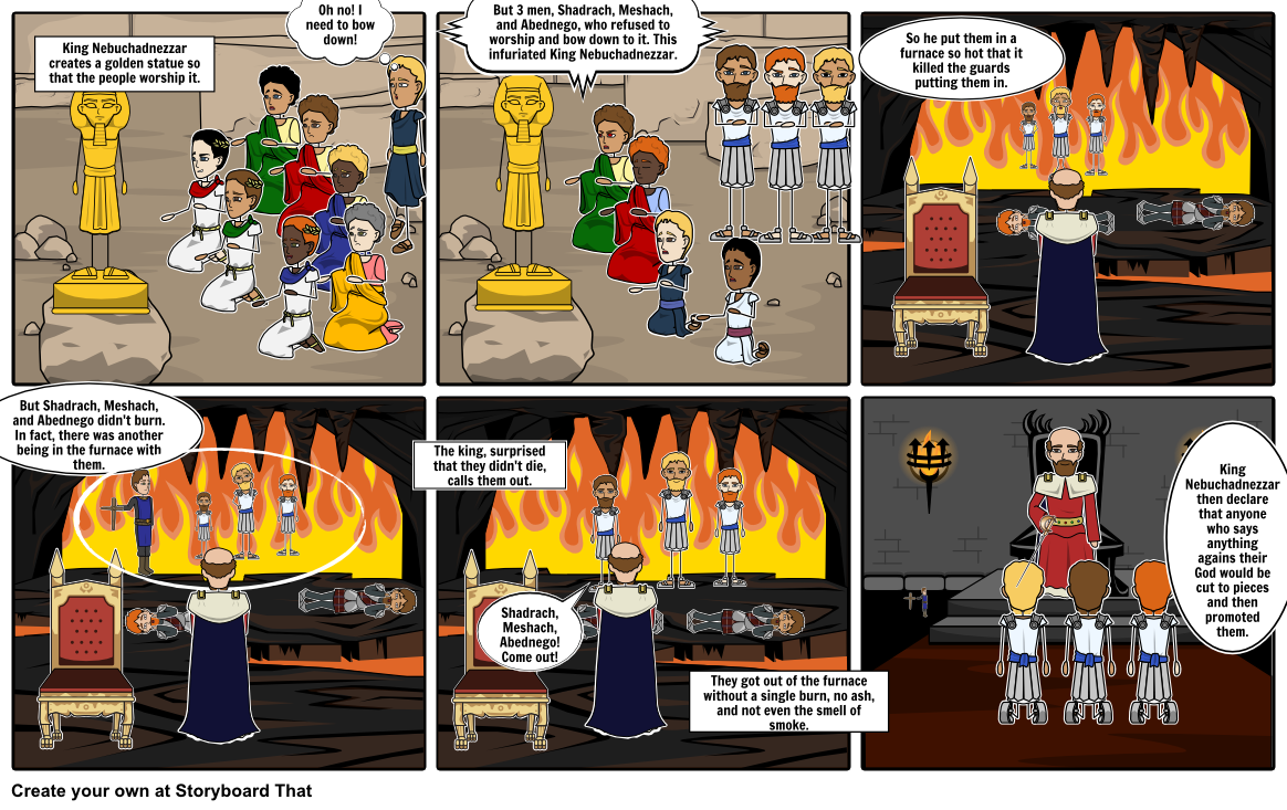 The Fiery Furnace and The Golden Statue