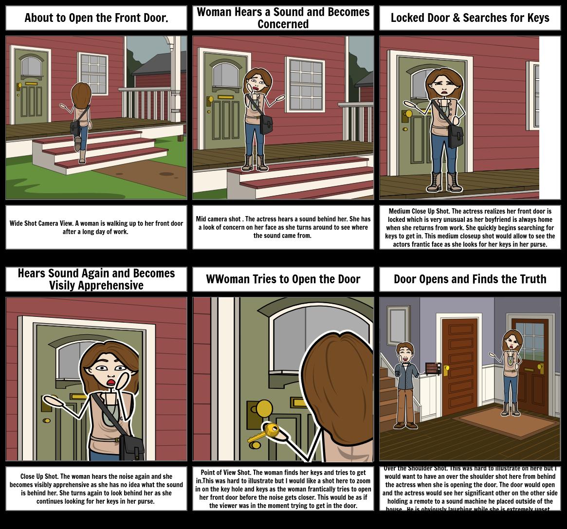 The Door Scene Storyboard
