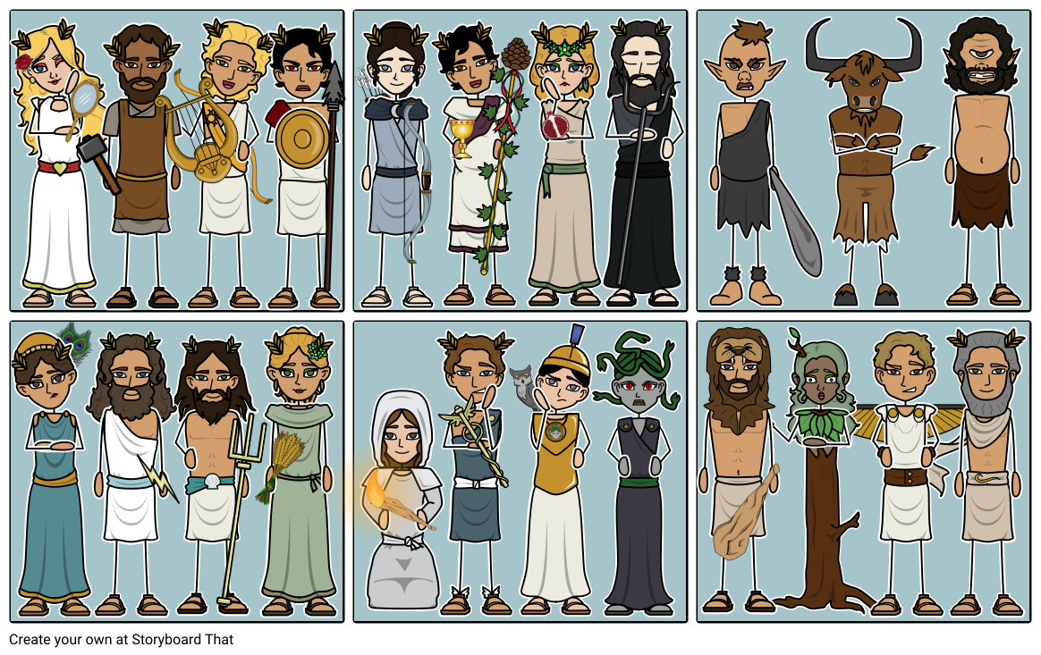 greek mythology characters storyboard by anna warfield