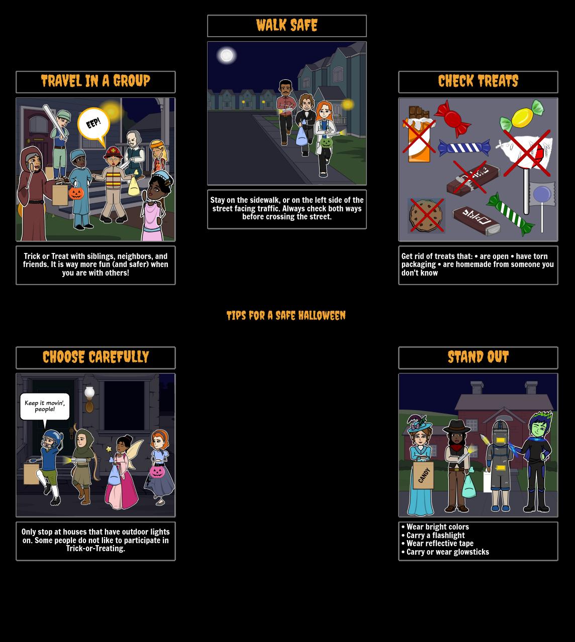 Halloween Activities - Safety