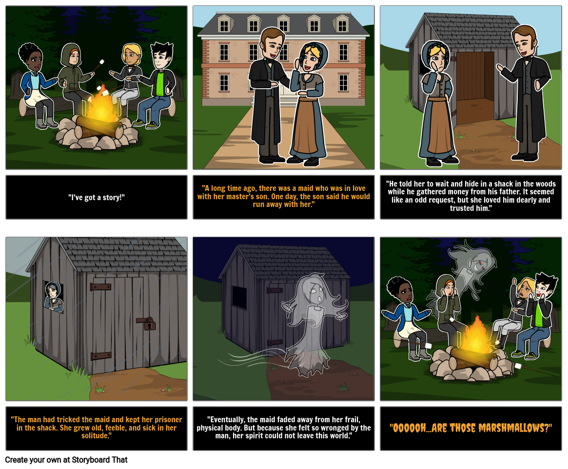 Halloween Activities - Scary Story Storyboard by anna-warfield