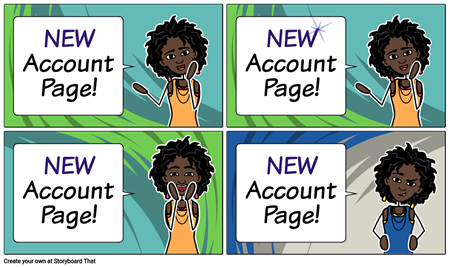 New Look and Feel for Accounts