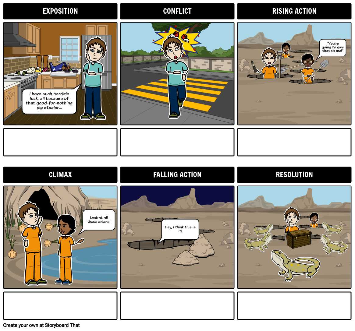 Plot Structure | Plot Diagram Template & Activities