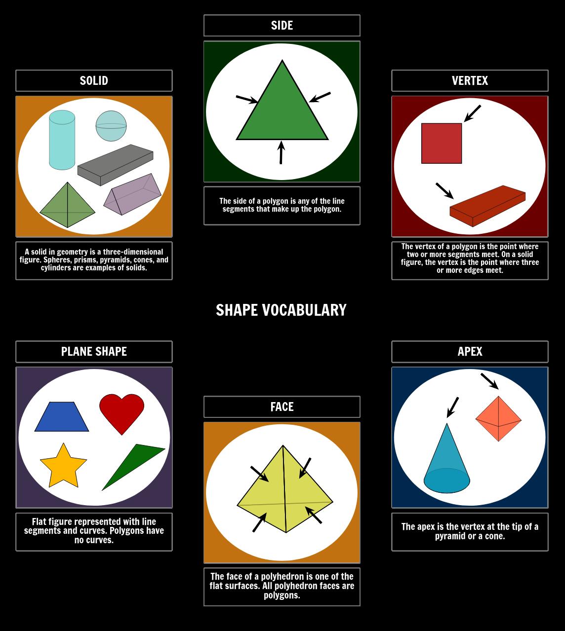 Geometric Shapes Vocabulary