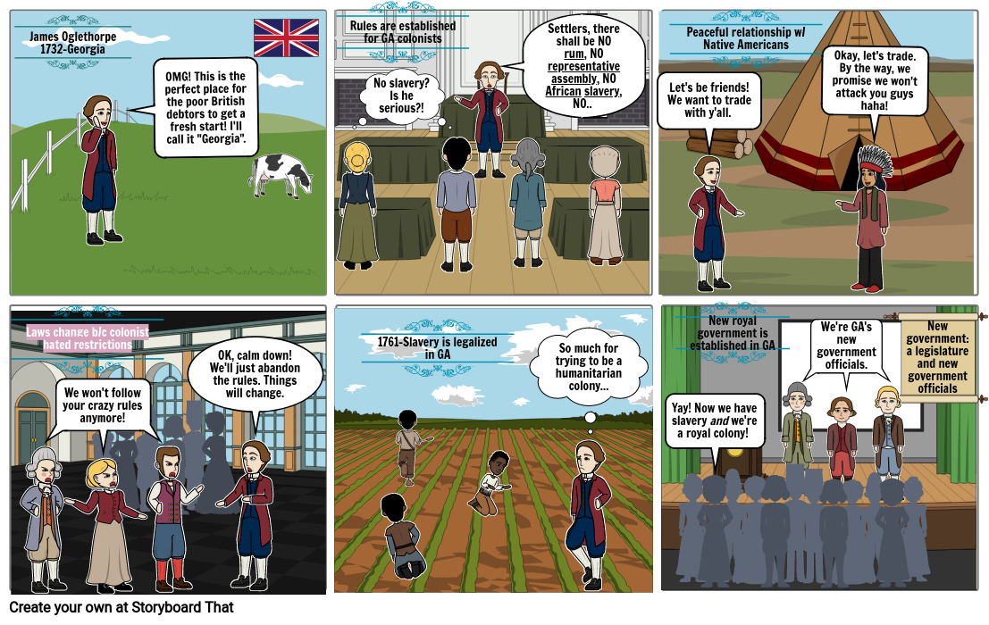Life in the Colonies Storyboard - Ashley Rawls