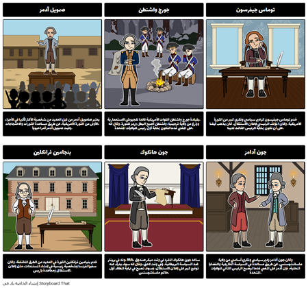 الأرقام الرئيسية في الثورة الأمريكية
