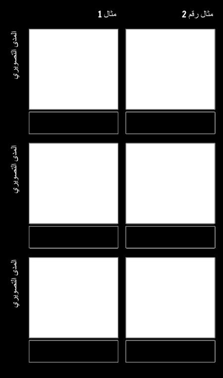 قالب اللغات التصويرية أمثلة متعددة