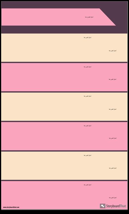 أقسام كتلة قالب الرسم البياني