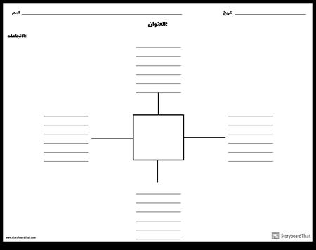خريطة العنكبوت مع خطوط - 4