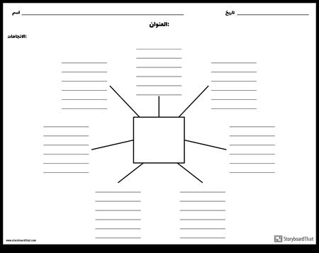 خريطة العنكبوت مع خطوط - 7