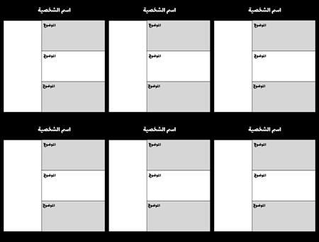 فارغة مخطط توزيع الأحرف