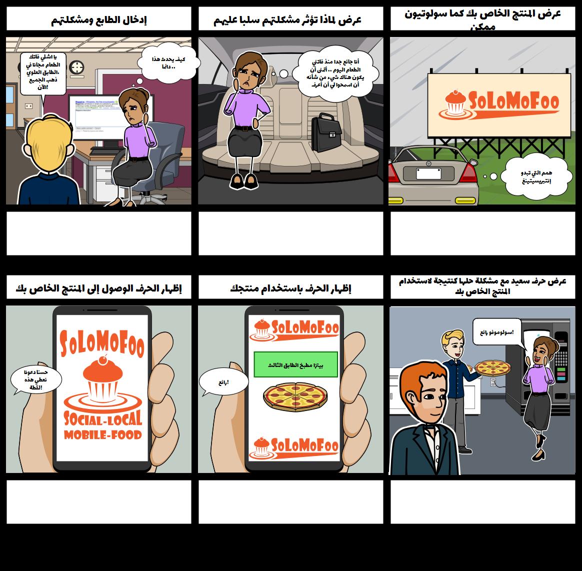 رحلة العملاء - مثال