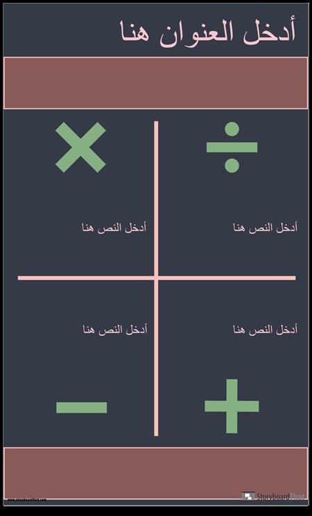 الرموز Infographic