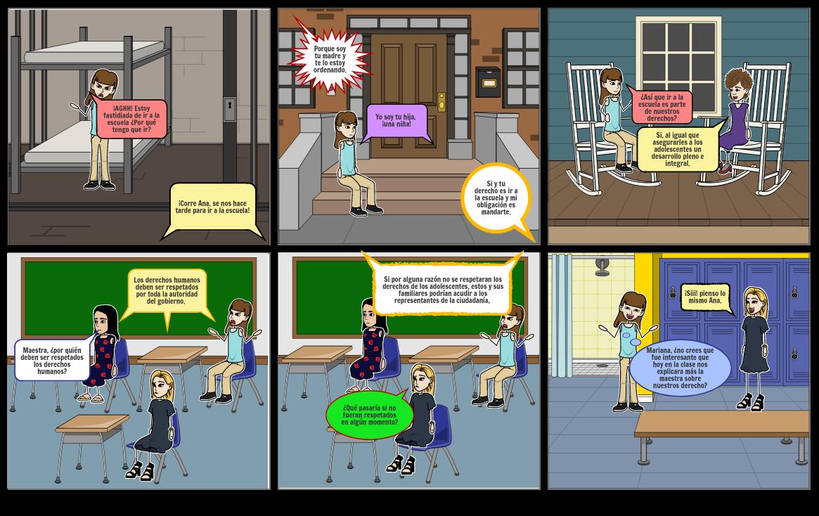 Comic de los derechos de los adolescentes