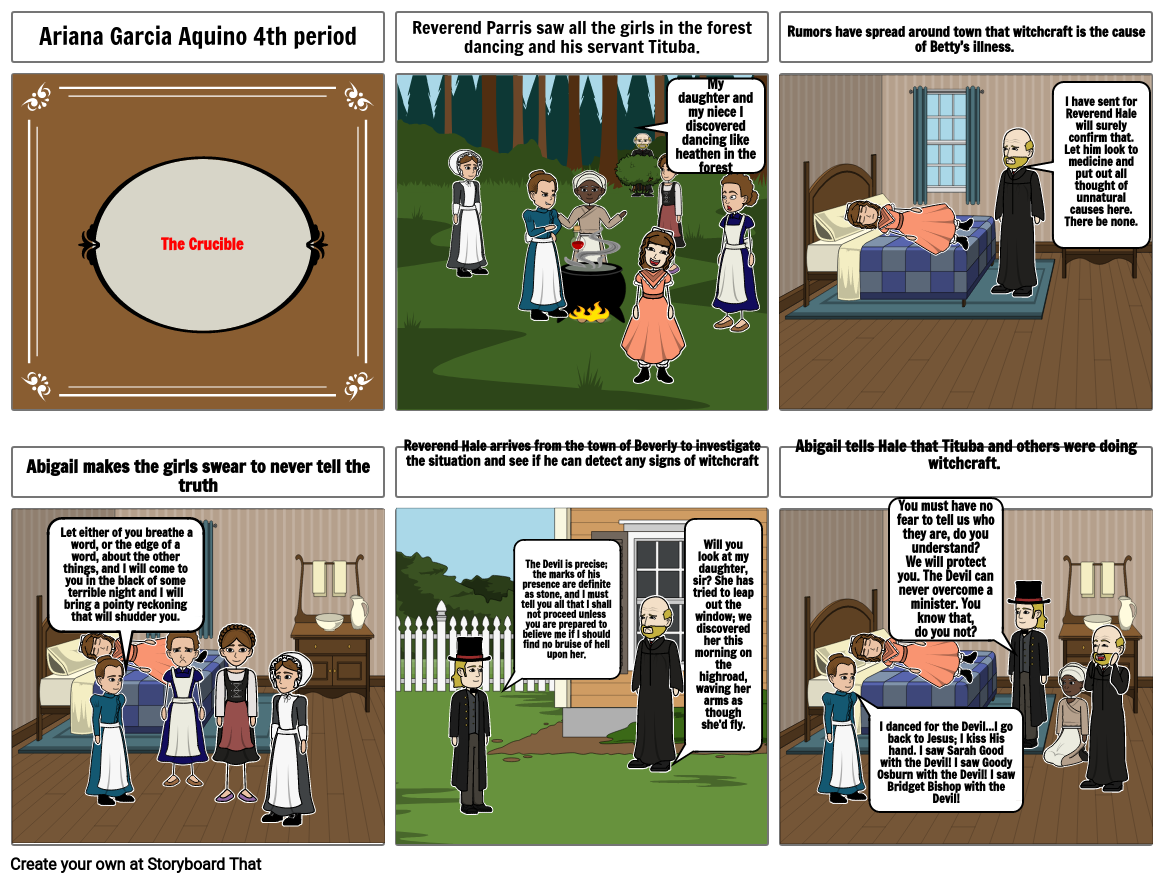 The Crucible Act 1 from Abigail & Reverend Parris POV